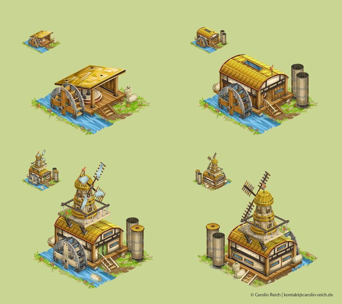 Gebäude Gameart Concepts