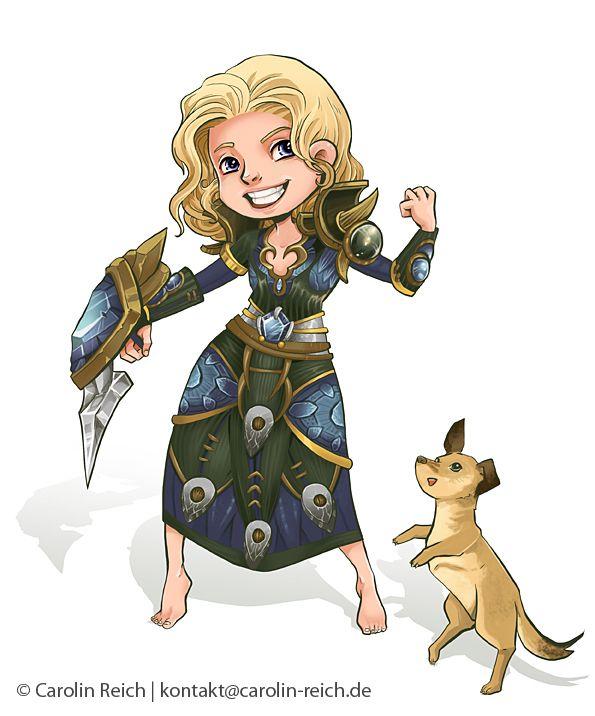 Cartoon Avatar Portrait-Zeichnung