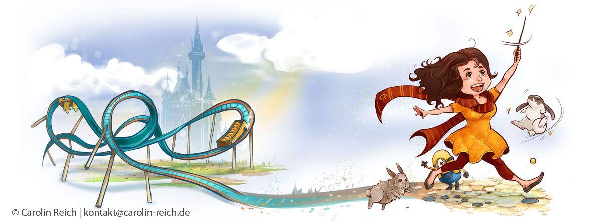 Cartoon Illustration Tassendruck