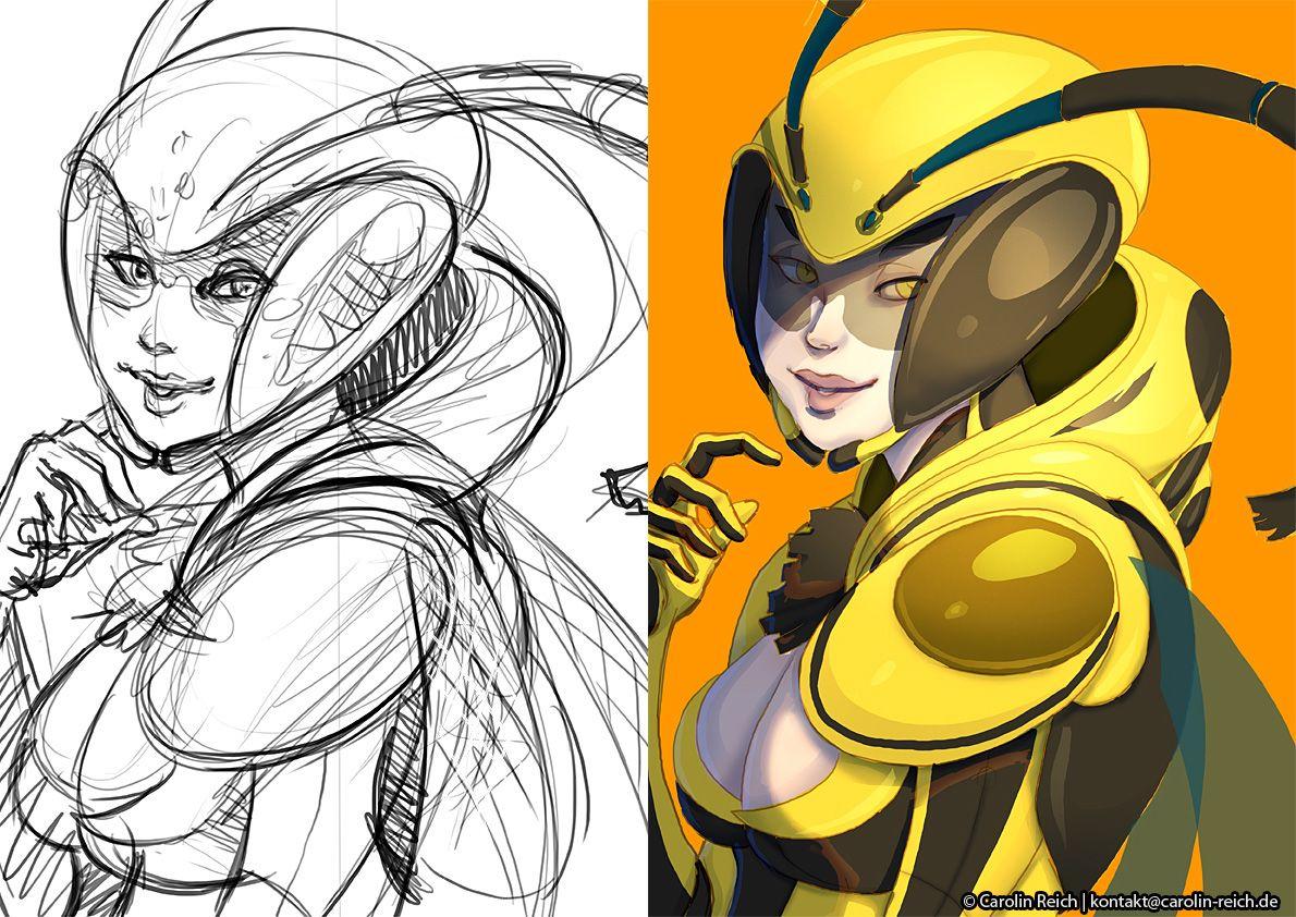 Illustration Skizze Basecolor