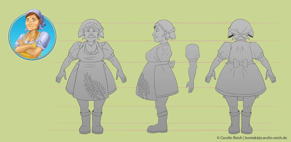 Characterdesign Turnarround