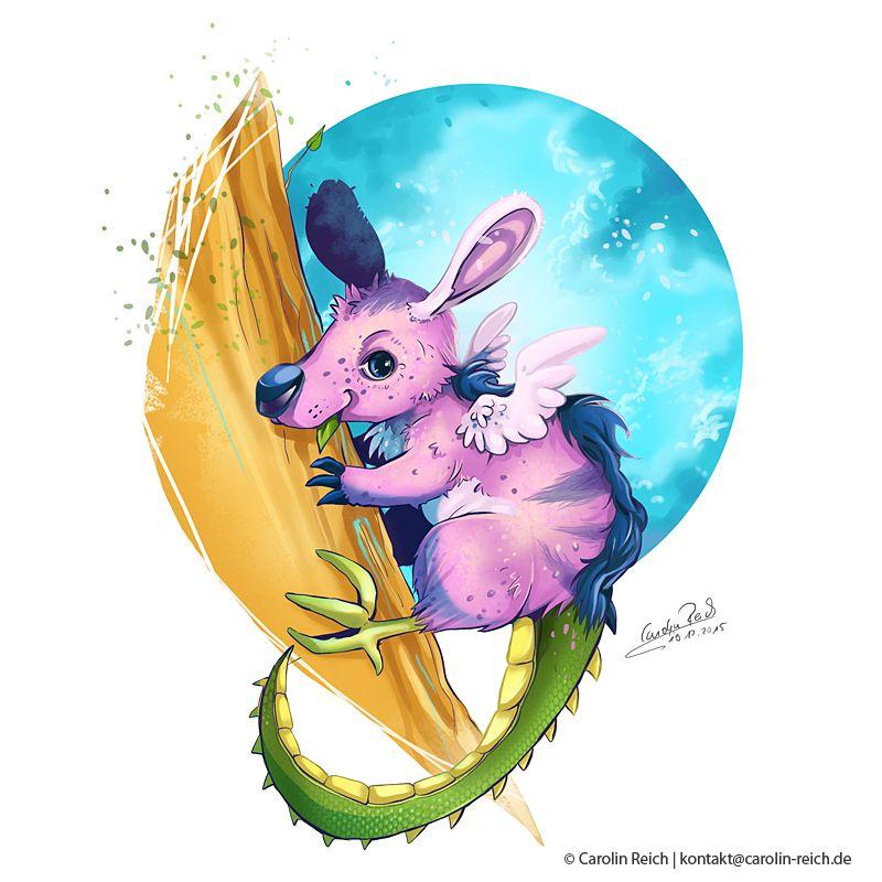 Fantasywesen Lulu Zeichnung