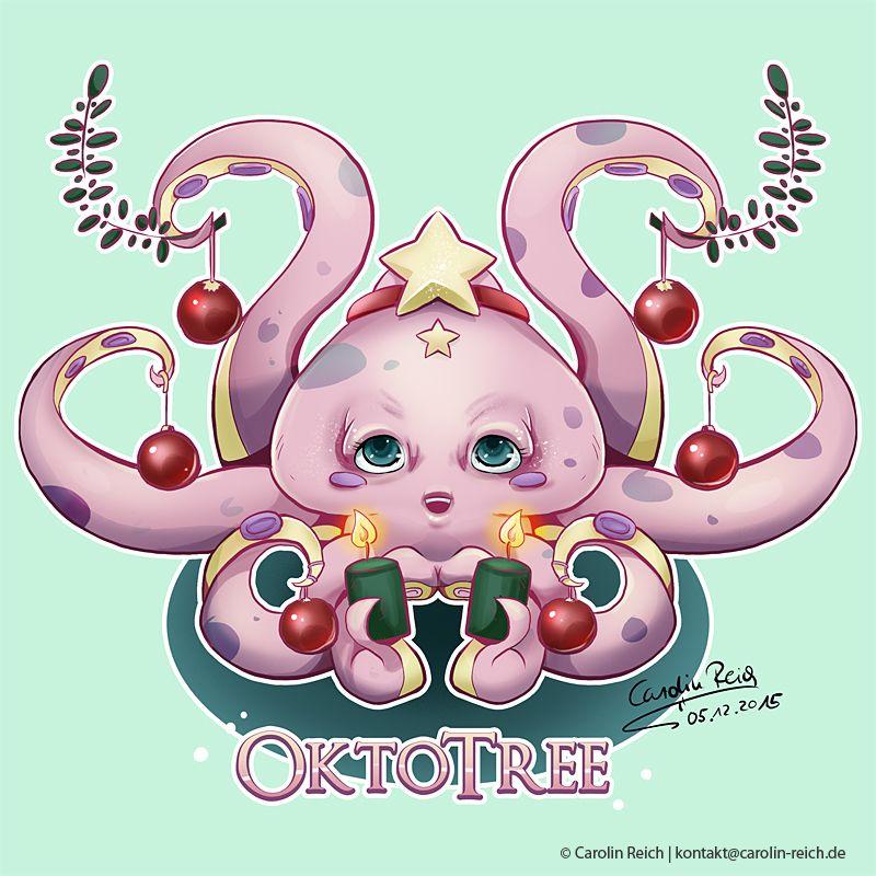 Cartoon Tintenfisch
