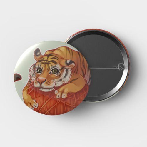 Button Tiger groß