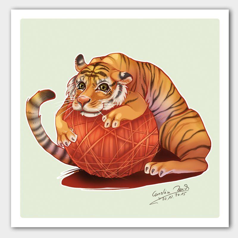 Kunstdruck Tiger