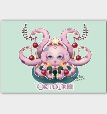 Postkarte Oktopus