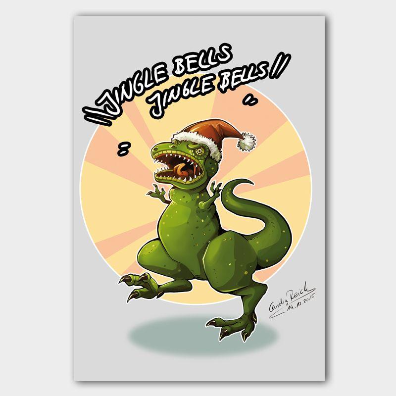 Postkarte T-Rex