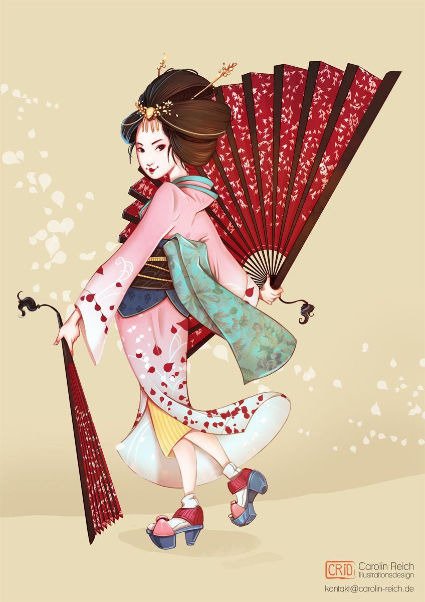 Geisha-Characterdesign-concept-Illustration