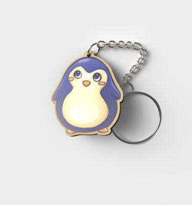 Schlüsselanhänger-Holz-Pinguin