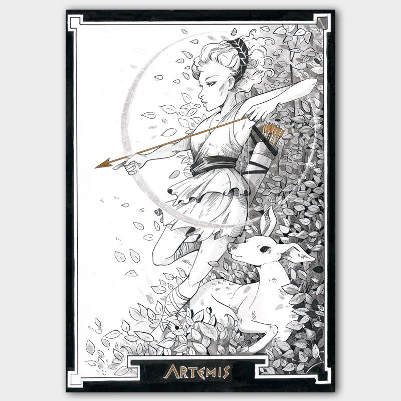 Original Inktober 2017 Artemis