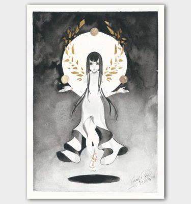 Kunstdruck Aquarell Göttin