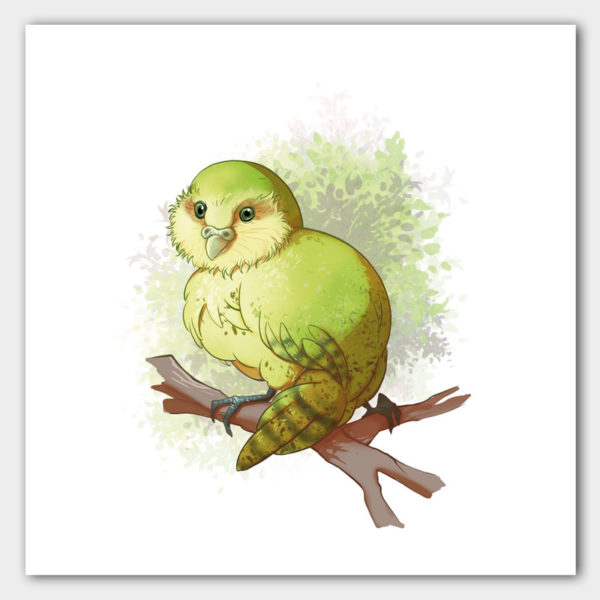 Kunstdruck Kakapo
