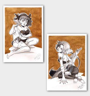 Pinups Cosima und Nocturne